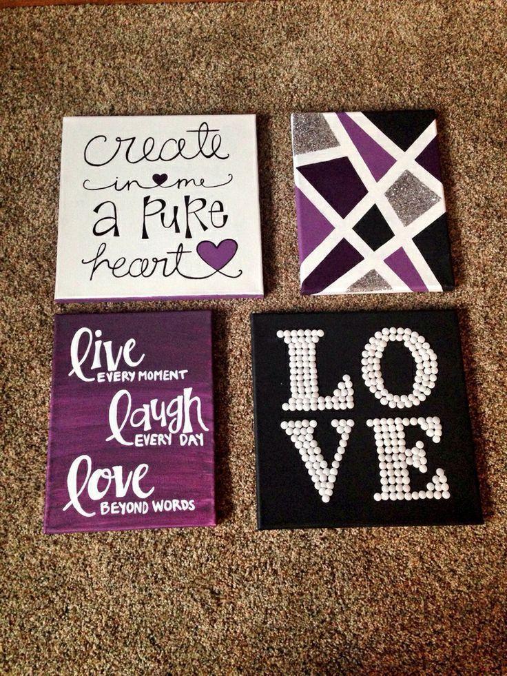 purple signs
