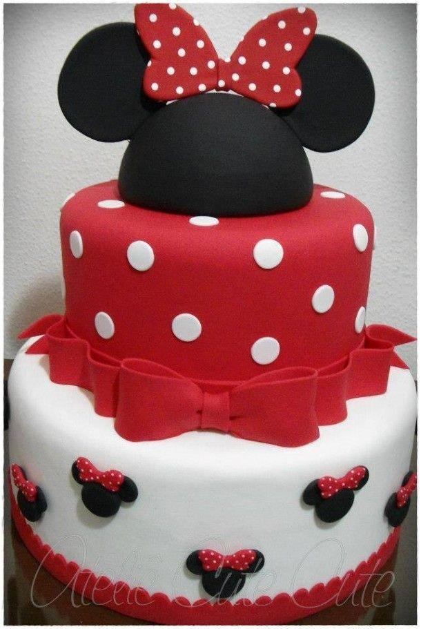 fotos de bolo - bolo minnie                                                                                                                                                                                 Mais
