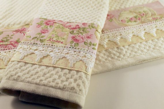 Ready to Ship Lace Tea Cup Kitchen Towels kitchen by AugustAve