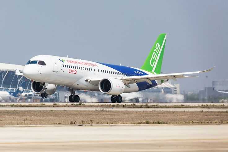 Comac C919 taxi tests concluded at Shanghai Pudong International Airport with lifting of the nose gear.  Credit: Comac