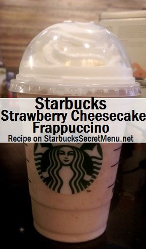 Starbucks Strawberry Cheesecake Frappuccino! #StarbucksSecretMenu Recipe here: http://starbuckssecretmenu.net/strawberry-cheesecake-frappuccino-starbucks-secret-menu/