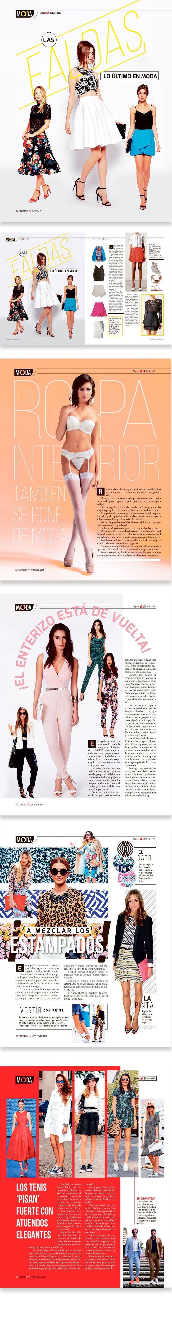 Diseño editorial // Revista: La Ó // Sección: Moda. Instagram: carmarcusdesign
