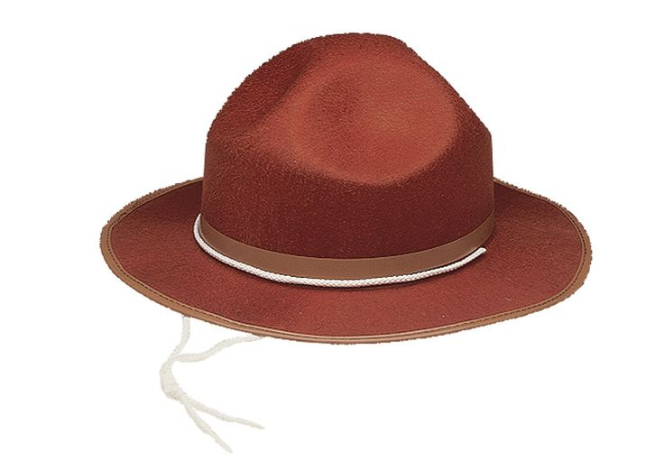 CANADIAN MOUNTIE /FOREST RANGER HAT - Fits most kids & adults.
