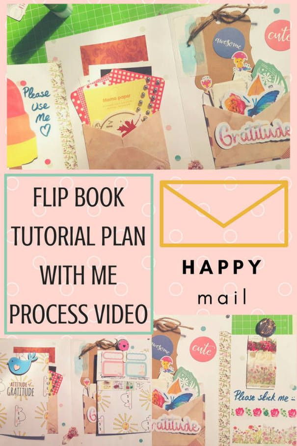 'Happy Mail' Flip Book tutorial and plan with me / make with me process video - Kerrymay._.Makes