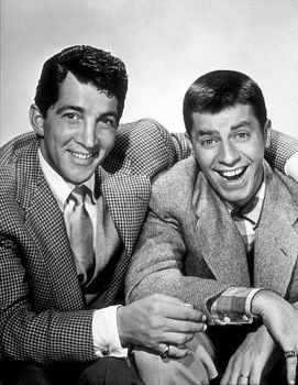 Dean Martin and Jerry Lewis  I remember watching them on t.v. after school.  afternoon movies.