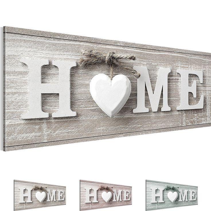 Bilder 100 x 40 cm - Home Bild - Vlies Leinwand - Kunstdrucke -Wandbild - XXL Format – mehrere Farben und Größen im Shop - Fertig Aufgespannt - Haus – Willkommen 504411a: Amazon.de: Baumarkt http://amzn.to/2pygcta
