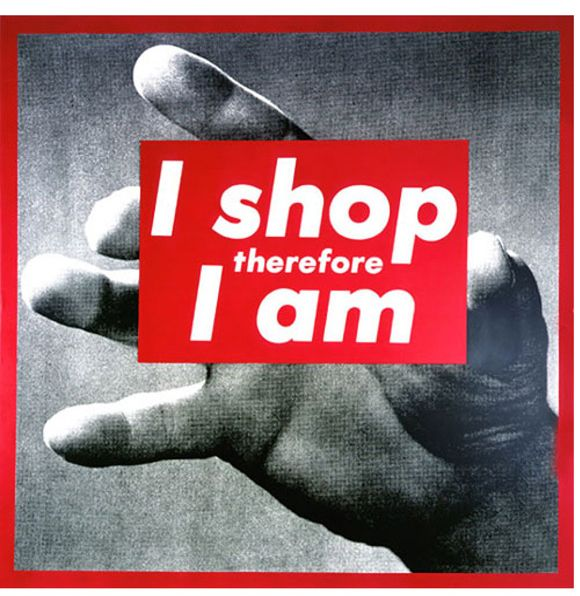 Revolt, Barbara Kruger - Kruger's work rejects the values of commercial advertising by raising questions about gender equality, consumerism, and stereotypes.