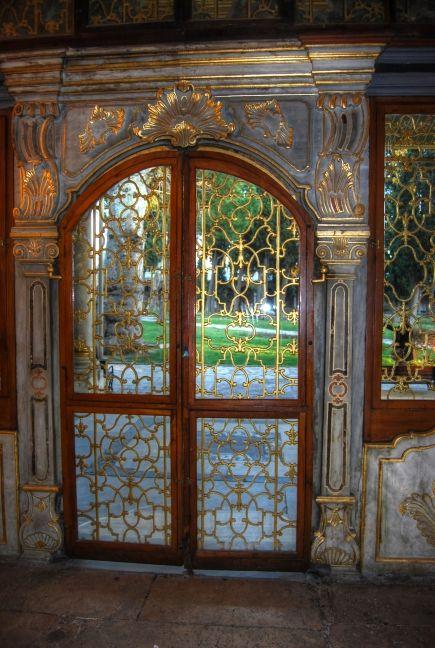 Doors of the harem in topkapi Istanbul, Turkey