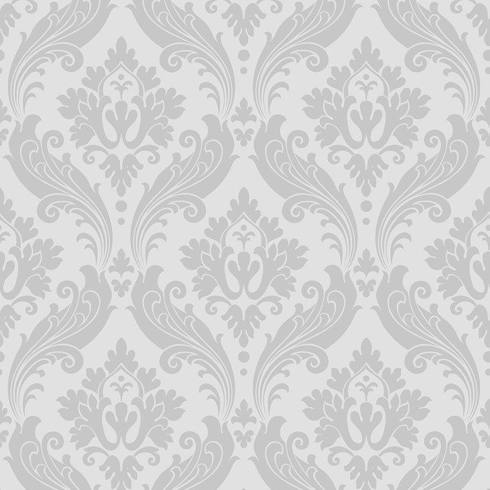 Vintage Flock Wallpaper by Kelly Hoppen - Gray Modern Wall Coverings by Graham  Brown