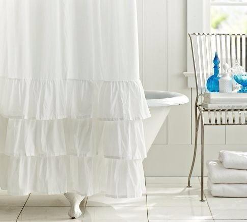 cortinas de tela 10 volados baño combinación de colores