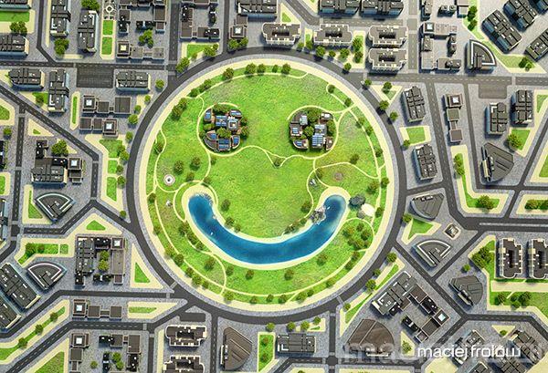 Eco quartier - smiley buildings on Behance