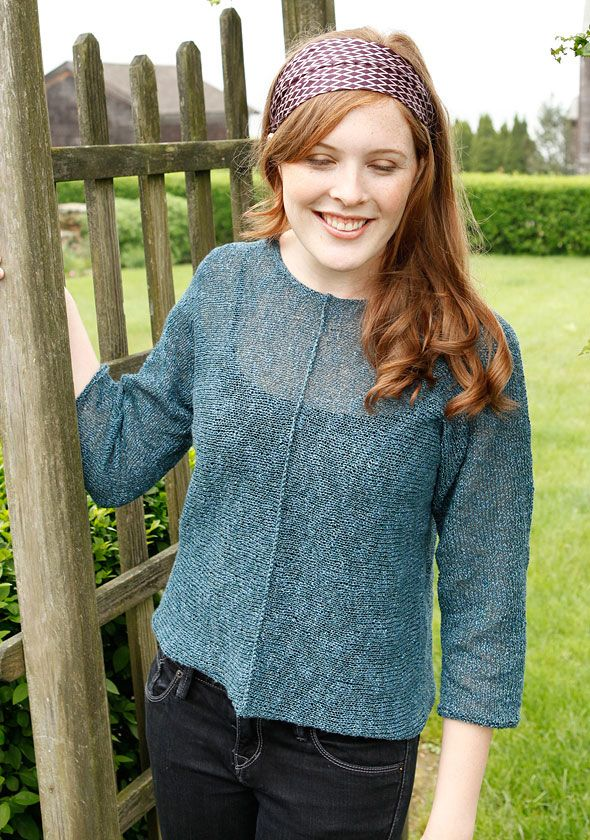 Berroco® Free Pattern | Jujuba - summer top knit with Berroco's Seduce yarn...knit from cuff to cuff.  Hand wash.