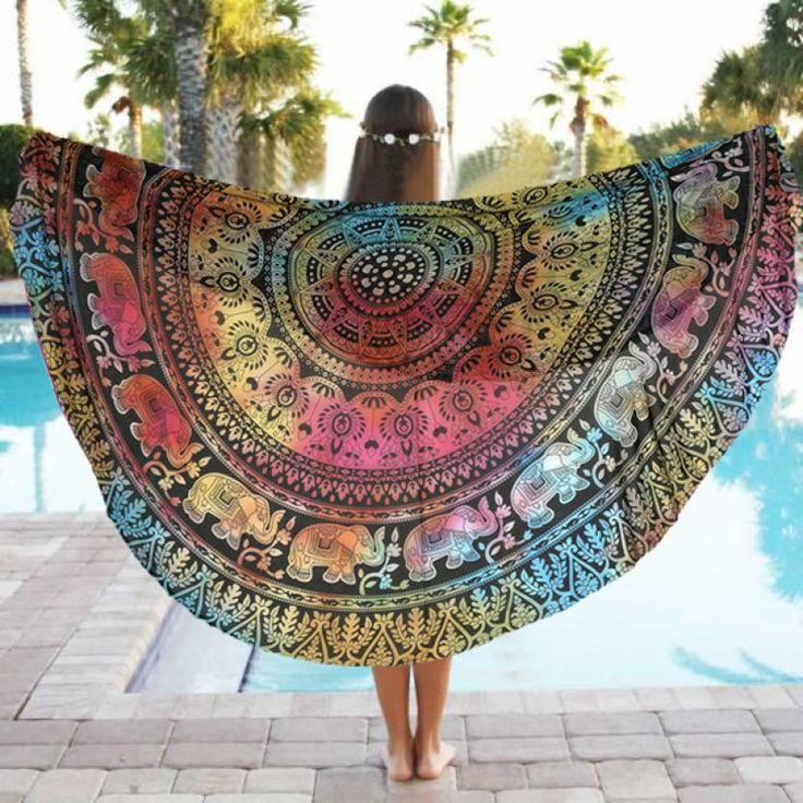 2016 yoga-matten Runde Strand Pool Hause Dusche Handtuch Decke Tischdecke Yoga-matten Activing September 1
