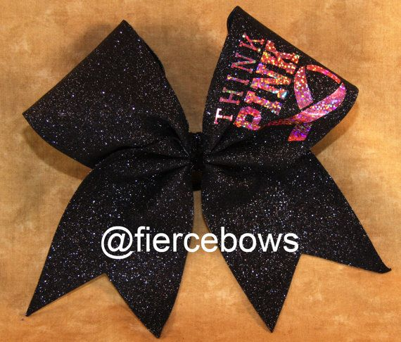 Breast Cancer Awareness Cheer Bow by MyFierceBows on Etsy, $16.00