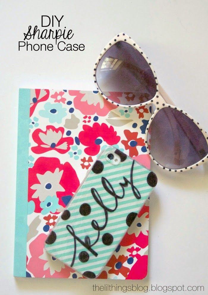 Just a sharpie and some Modge Podge for this DIY phone case! DIY phone case by The Little Things Blog