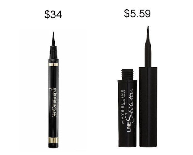 Try Maybelline Line Stiletto liquid liner instead of YSL Eyeliner Effect Faux Cils and save about $28.   19 Incredible Drugstore Makeup Dupes That Will Change Your Life