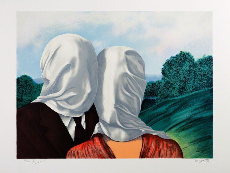 René Magritte, Les Amants (The Lovers), 2010, Art Lithographies