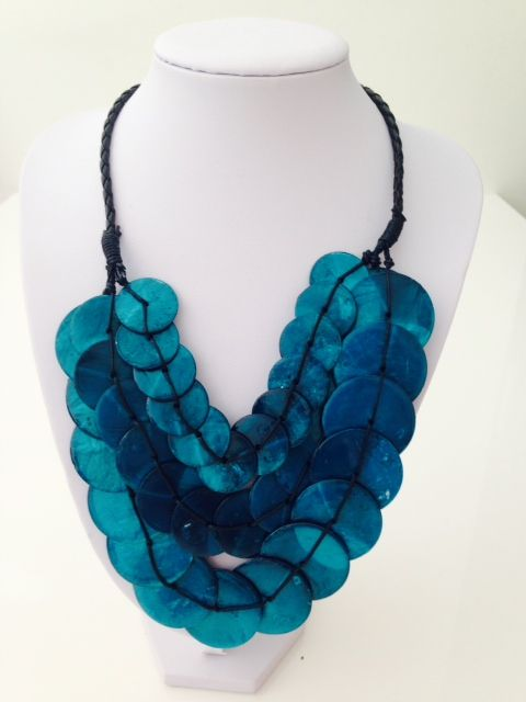 Beautiful teal triple layer shell necklace $15, go to www.melikeshoes.com.au (We always do free shipping)