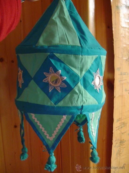 L mpara india de tela artesan a hogar y decoraci n - Artesania y decoracion ...