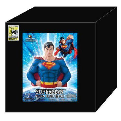 Superman ( Superman ) Resin SDCC 2013 Exclusive DC Comics (DC Comics ) Bust Bank Figure Toy doll ( p @ niftywarehouse.com #NiftyWarehouse #Superman #DC #Comics #ComicBooks