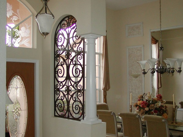 Decorative Iron Arched Room Divider. by tvonschimo, via Flickr