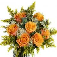 Ruža Oranžové ruže s ozdobou -