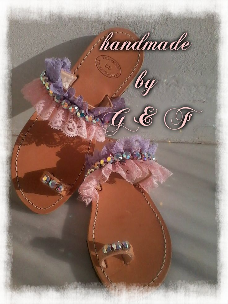 handmade sandals with swarovski crystals
