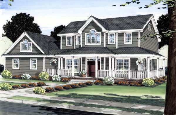 Colonial   House Plan: interesting layout
