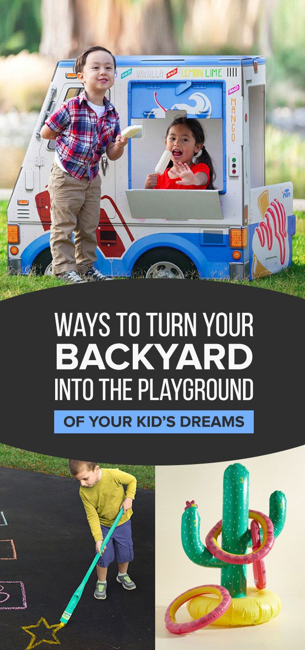 26 Ways To Turn Your Backyard Into The Playground Of Your Kids Dreams