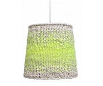 HK-living Hanglamp neon groen/wit gebreid textiel 34 cm