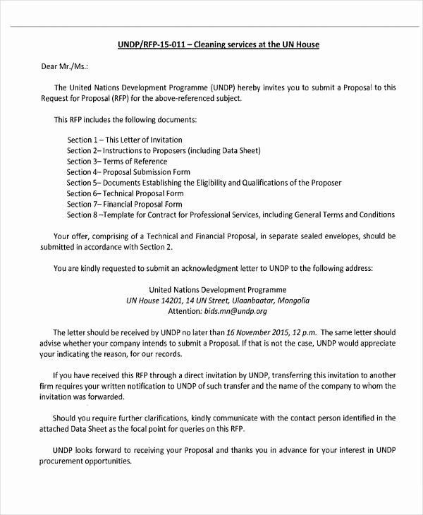 Proposal For Services Template Luxury 7 Service Fer Letter