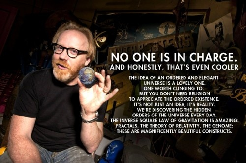 Adam Savage gives his view. Atheists have their rights.