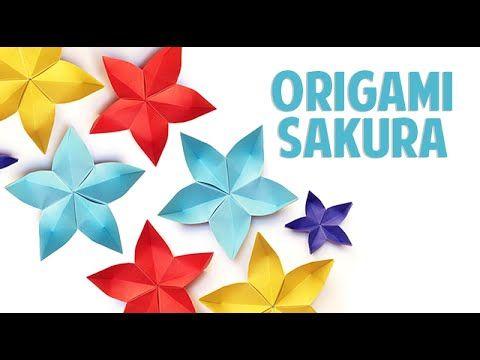 Como Fazer Flor de Origami | How to do Simple Origami Flower