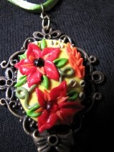 Polymer clay vintage necklace  Available