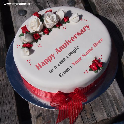 Wedding Day Images With Name: 17 Best Ideas About Marriage Anniversary Cake On Pinterest