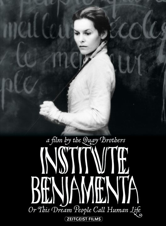 Directed by Stephen Quay, Timothy Quay.  With Mark Rylance, Alice Krige, Gottfried John, Daniel Smith. Jakob arrives at the Institute Benjamenta (run by brother and sister Johannes and Lisa Benjamenta) to learn to become a servant. With seven other men, he studies under Lisa: absurd lessons of movement, drawing circles, and servility. He asks for a better room. No other students arrive and none leave for employment. Johannes is unhappy, imperious, and detached from the school's operation…