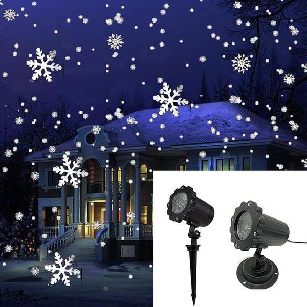 Christmas Snowflake Laser Light Christmas Snow Projector