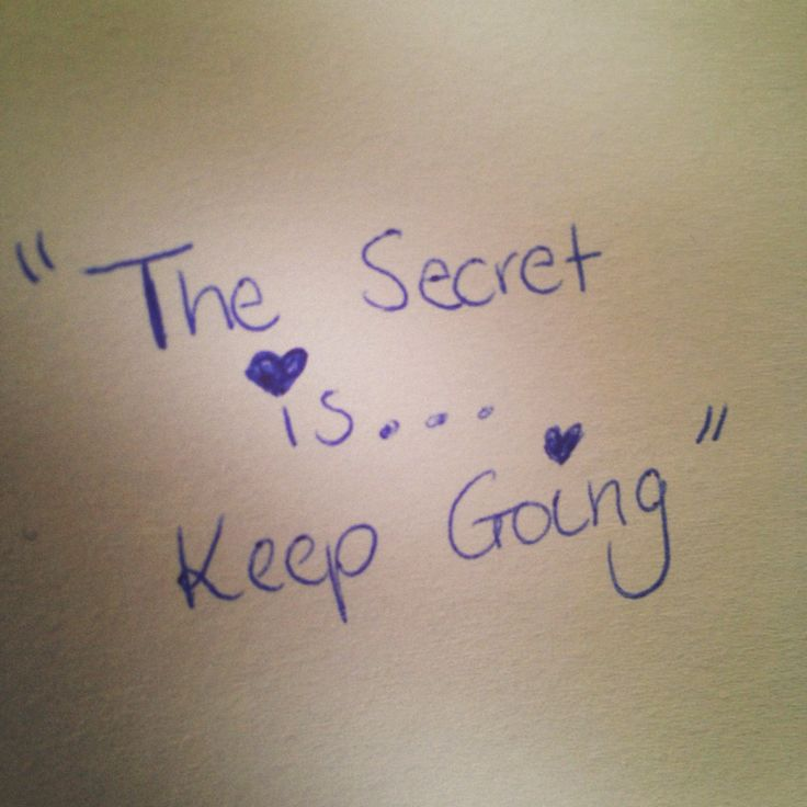 The secret #writing