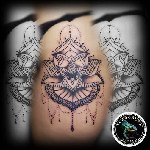 Mantala sto mpouti το ιδανικο τατουαζ για καθε γυναικα που αγαπαει τα μανταλα..μονο στο Acanomuta tattoo studio!