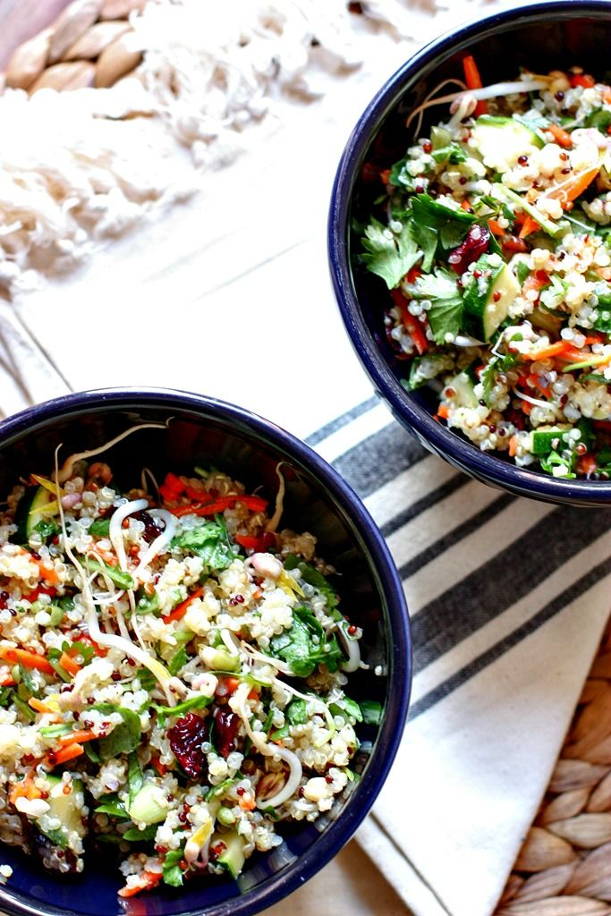 [Inspired Vegetarian] Chopped Quinoa Salad with Cranberries