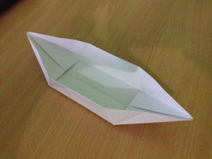 How to make paper boat? - paper canoe or origami canoe