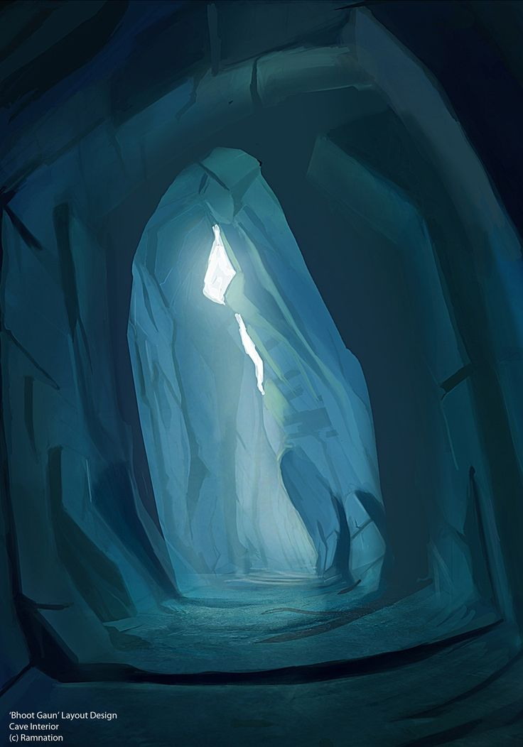 painting with cave - Google Search