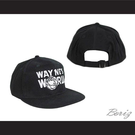 Mens Adjustable Black Baseball Cap Wayne's World Hat New on Etsy, $17.82 AUD