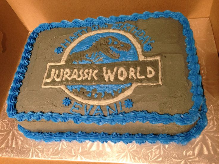 Jurassic World Birthday Cake Evan S 10th Birthday Party