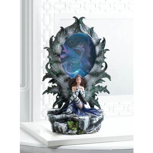 Fairy And Dragon Lighted Figurine