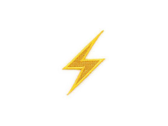 High Voltage Sign Metallic Lightning Bolt Emoji Embroidered Etsy In 2021 Lightning Patch Emoji Tattoo Lightning Bolt