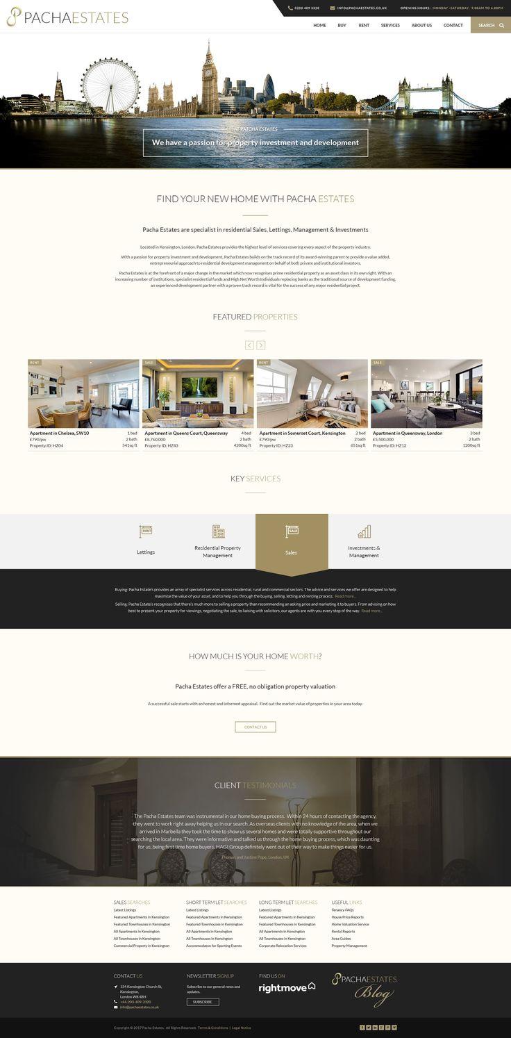Real Estate Web Design for an Agent based in Kensington, London #RealEstate #Kensington