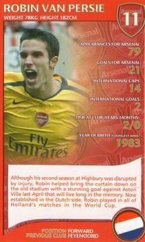 2007 Top Trumps Specials Arsenal #NNO Robin Van Persie Front