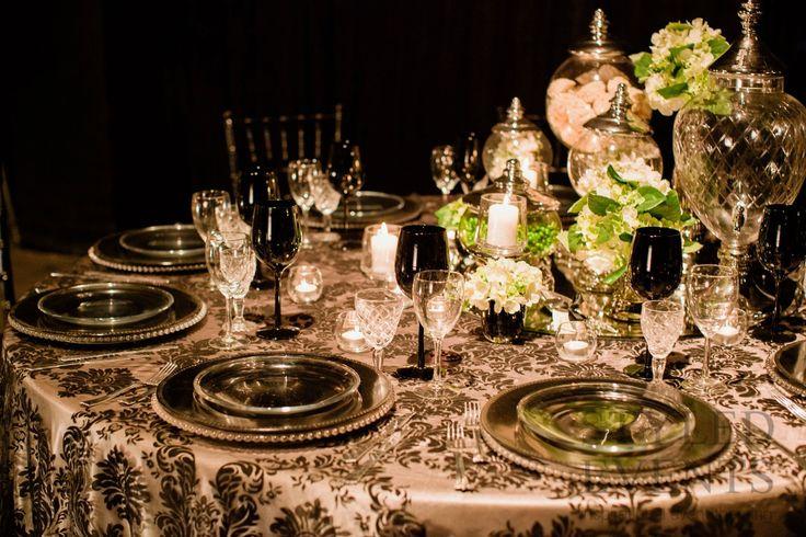 STATEMENT GLAMOUR Styled Events setting [Stewart Ross Photography] #styledevents #furniturehire #brisbaneevents #queensland #events #eventstyling #wedding #blackandwhite