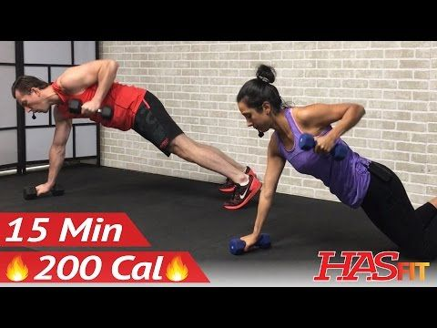 15 Min Full Body Dumbbell Workout at Home for Women & Men - Weight Training Workouts for Strength - YouTube